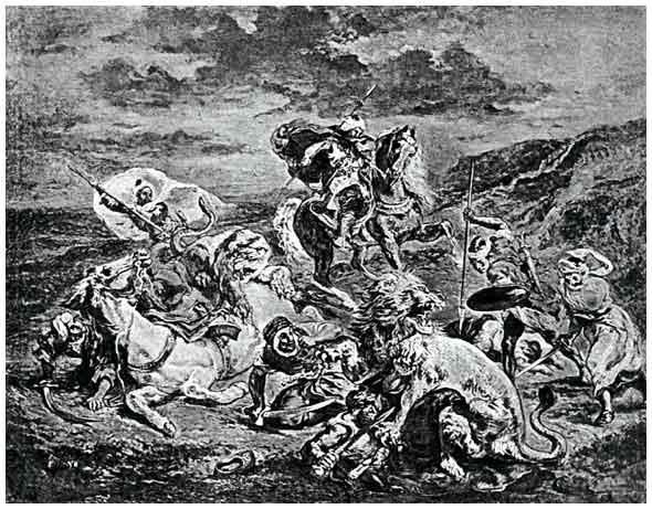 Art History Paper on Lion Hunt by Eugene Delacroix | Free ...
