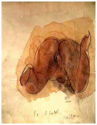 Erotische Zeichnung von Auguste Rodin - Quelle: siehe Angabe im Artiekl